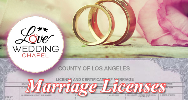 Marriage Licenses Los Angeles County